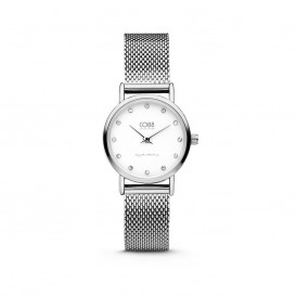 CO88 Collection 8CW-10061 - Horloge - mesh band - zilverkleurig - ø 24 mm