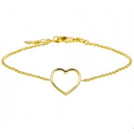 Armband Goud Hart 17 - 18,5 cm
