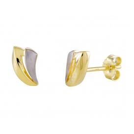 Glow Gouden Oorbellen bicolor 206.0391.00
