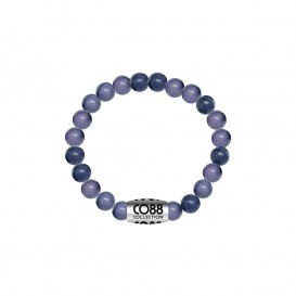 CO88 Collection 8CB-17014 - Armband met bead - Sodalite natuursteen 6 mm - lengte 16 cm - blauw / paars