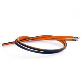 Trollbeads TLEBR-00044 Leren armband oranje marine