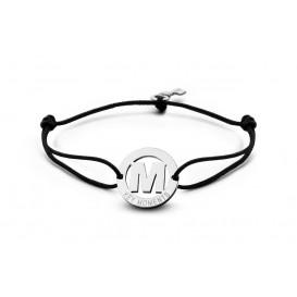 Key Moments 8KM-A00013 Armband met stalen letter M en sleutel one-size zilverkleurig