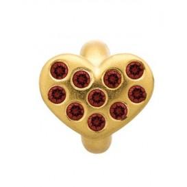 Endless Garnet Heart of Love Goud Bedel 51501-2