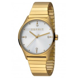 Esprit Horloge VinRose staal/rekband 34 mm goudkleurig-wit ES1L032E0115