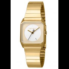 Esprit ES1L070E0075 Horloge Cube Mini 25 mm goudkleurig