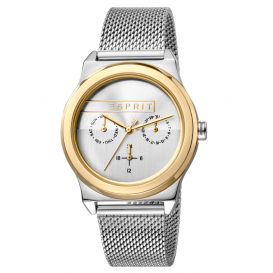 Esprit ES1L077M0075 Horloge Magnolia Mesh 34 mm zilver- en goudkleurig