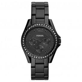 Fossil ES4519 Horloge Riley staal zwart 38 mm-1