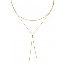 Esprit Ketting Loris staal goudkleurig 105 cm ESNL00042299