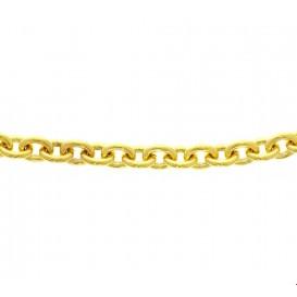 Zilgold Collier goud met zilveren kern Anker 8 mm 45 cm
