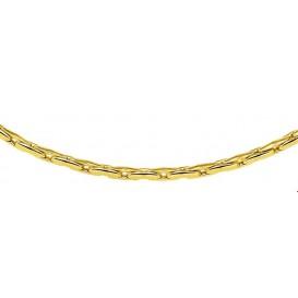 Zilgold Collier goud met zilveren kern Cardano 3,0 mm 45 cm