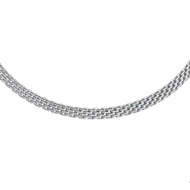 TFT Collier Staal 6 mm breed 42 + 5 cm lang