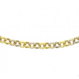 Zilgold Collier goud met zilveren kern Jasseron 7 mm 45 cm