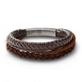 Fossil JF85296040 lederen armband