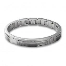 Fossil Armband staal Mens Dress zilverkleurig JF84476040