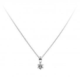 Diamonfire Ketting zilver met solitaire hanger 0,25 crt 4 mm 45 cm 803.0030.45