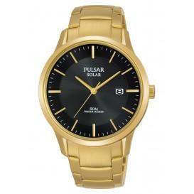 Pulsar herenhorloge Solar goudkleurig 40 mm PX3162X1
