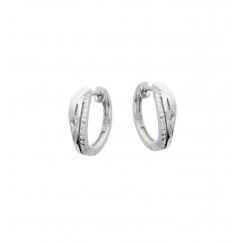 Zilveren Oorbellen klapcreolen met zirconia 107.6278.00
