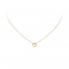 Glow Gouden Collier Met Hanger - Zeshoek 40+2cm 202.2074.42