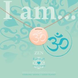 Heart to get IAM413N-OHM-R ohm symbol ketting rose verguld