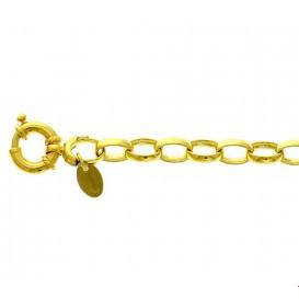 Zilgold Armband Witgoud Jasseron 6,2 mm 19 cm