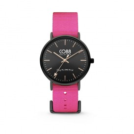 CO88 Collection 8CW-10020 - Horloge - Nato nylon - roze - 36 mm