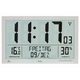 AMS 5888 Wandklok Zendergestuurd, Hygrometer Thermometer