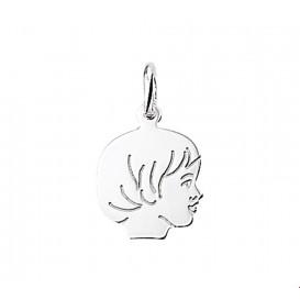 TFT bedel Jongen witgoud 12,5 x 15,5 mm