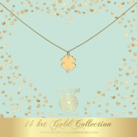 Heart to get NG10CLO18 Necklace clover 14 krt gold