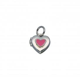 Lilly Zilveren Kindermedaillon - Hart Met Roze 10mm  145.0116.00