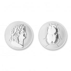 Mi Moneda ROM-01 Roman - Scarabee zilverkleurig Medium