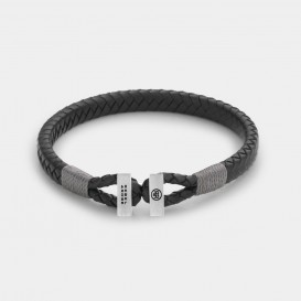 Rebel and Rose RR-L0105-S Armband Connected Black Grey - XS   XS 17 cm 1
