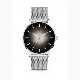 Kaliber 7KW 0007 Stalen Horloge met Mesh Band - Ø40 mm - Zilverkleurig / Zwart