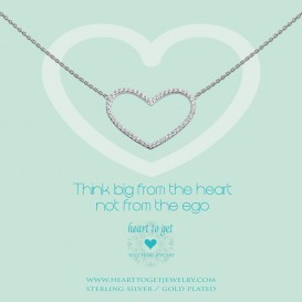 Heart to get N230HZS14S Think big from the heart not from the ego ketting zilver