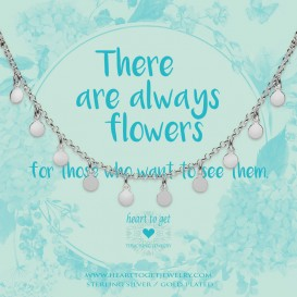 Heart to get BO244NCOI17S necklace dangling coins silver There are always flowers for those who want to see them