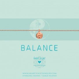 Heart to get B262CYY15R you are the yin to my yang bracelet coin Yin Yang rosegold plated