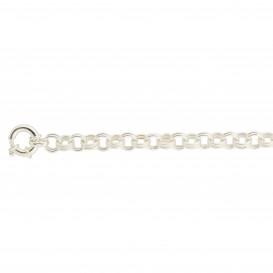Zilveren armband best basics Fantasie jasseron - grote veerring - 9 mm 104.1354.19