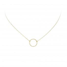 Glow Gouden Collier Met Hanger - Rondje 40+3cm  202.2060.43