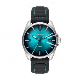 Diesel Horloge MS9 staal/leder zwart 49 mm DZ1861