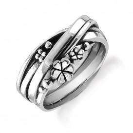 Rabinovich 63103000 Ring zilver Bloemen