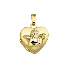 TFT Medaillon Hart En Cupido Geelgoud Glanzend 14,0 mm x 14,5 mm