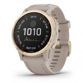 Garmin 010-02409-11 Fenix 6S Pro Solar Smartwatch light Gold 42 mm