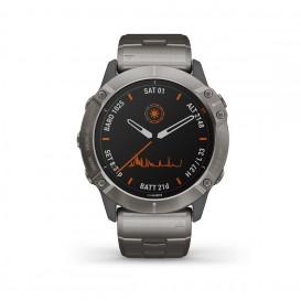 Garmin 010-02157-24 Fenix 6X Multisport GPS Smartwatch titanium, Solar en saffierglas-1