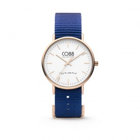 CO88 Collection 8CW-10017 - Horloge - Nato nylon - donker blauw - 36 mm