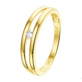 TFT Ring Diamant 0.07ct H SI Geelgoud