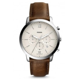 Fossil Herenhorloge Neutra Chrono silver-brown FS5380