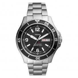 Fossil FS5687 Horloge staal zilverkleurig-zwart 48 mm