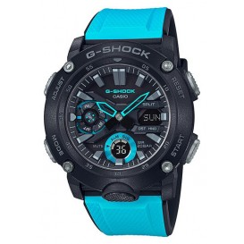 Casio G-Shock GA-2000-1A2ER Horloge Carbon Core Guard blauw 51,2 mm