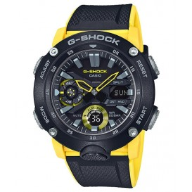 Casio G-Shock GA-2000-1A9ER Horloge Carbon Core Guard geel 51,2 mm