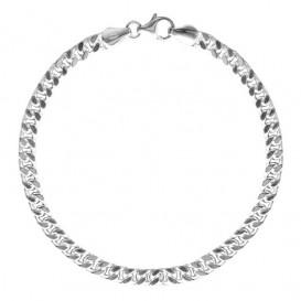 FirstChoice GOU55 Armband zilver Gourmet 5,5 mm 18,8 gram 21 cm