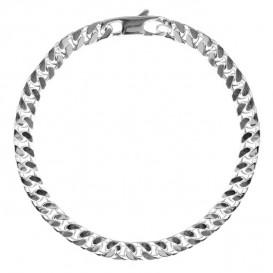 FirstChoice GSP5 Armband zilver Gourmet 5,0 mm breed 10,1 gram 19 cm